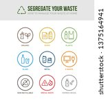waste collection and separation ... | Shutterstock .eps vector #1375164941