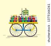 indian ice gola cart. indian... | Shutterstock .eps vector #1375166261