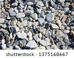 pebbles on the seashore   Shutterstock . vector #1375168667