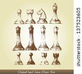 Original Hand Drawn Chess Set