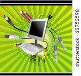 computer vector   Shutterstock .eps vector #13752598