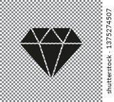 diamond icon vector. simple...