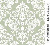 damask seamless vector... | Shutterstock .eps vector #1375281134