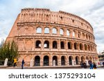 rome  italy   april 3  2019 ... | Shutterstock . vector #1375293104