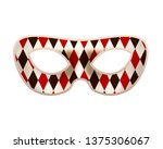 bright masquerade mask with red ... | Shutterstock . vector #1375306067