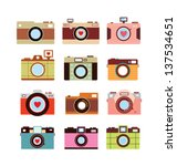 camera vector | Shutterstock .eps vector #137534651