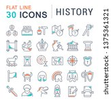 set of line icons of history...   Shutterstock . vector #1375361321