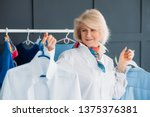 successful aged woman. clothes... | Shutterstock . vector #1375376381