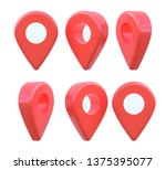 map pointer icon. gps location... | Shutterstock . vector #1375395077