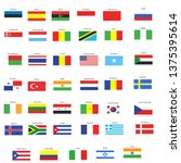 world flag collection | Shutterstock .eps vector #1375395614