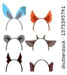 a set of animal ears for...   Shutterstock .eps vector #1375395791