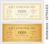 gift certificate   voucher... | Shutterstock .eps vector #137541311