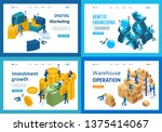 set of landing pages isometric...   Shutterstock .eps vector #1375414067