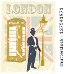 victorian gentleman london... | Shutterstock .eps vector #137541971