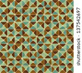 seamless retro geometric... | Shutterstock .eps vector #137542697