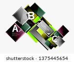 abstract square composition for ... | Shutterstock .eps vector #1375445654