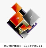 abstract square composition for ... | Shutterstock .eps vector #1375445711