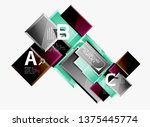 abstract square composition for ... | Shutterstock .eps vector #1375445774