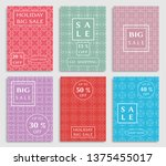 sale banners  flyers with... | Shutterstock .eps vector #1375455017