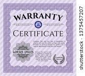 violet warranty certificate...   Shutterstock .eps vector #1375457207