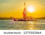maiden's tower in istanbul ... | Shutterstock . vector #1375502864