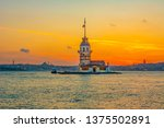 maiden's tower in istanbul ... | Shutterstock . vector #1375502891