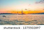 maiden's tower in istanbul ... | Shutterstock . vector #1375502897