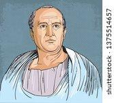cicero  106 43 bc  portrait in... | Shutterstock .eps vector #1375514657