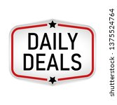 daily deal label or sticker on... | Shutterstock .eps vector #1375524764