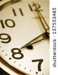 close up of clock face in... | Shutterstock . vector #137553485
