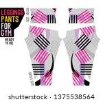 leggings pants for gym | Shutterstock .eps vector #1375538564