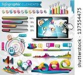 vector design set of... | Shutterstock .eps vector #137554475
