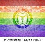 caduceus medical icon inside... | Shutterstock .eps vector #1375544837