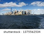 skyline with famous skyscrapers ... | Shutterstock . vector #1375562534