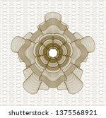 brown abstract rosette   Shutterstock .eps vector #1375568921