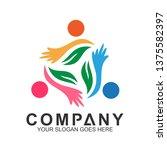 people care logo  | Shutterstock .eps vector #1375582397