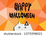 happy halloween text banner ... | Shutterstock .eps vector #1375598021