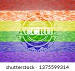 accrue emblem on mosaic... | Shutterstock .eps vector #1375599314