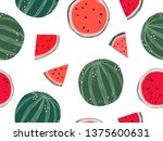 seamless pattern design with... | Shutterstock .eps vector #1375600631