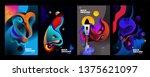 set of banner templates.... | Shutterstock .eps vector #1375621097