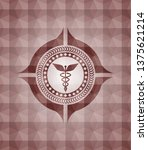 caduceus medical icon inside... | Shutterstock .eps vector #1375621214