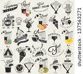 retro vintage style restaurant... | Shutterstock .eps vector #137563271