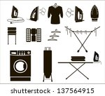laundry. set of vector icons | Shutterstock .eps vector #137564915