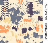 vector seamless pattern with... | Shutterstock .eps vector #1375658747