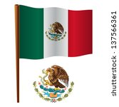 united mexican states wavy flag ... | Shutterstock .eps vector #137566361
