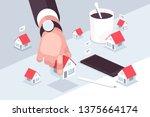 property market vector... | Shutterstock .eps vector #1375664174
