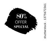 80  special offer sign over art ...   Shutterstock .eps vector #1375672361