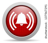 alarm red circle web glossy... | Shutterstock . vector #137567291