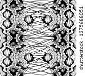 snake skin scales texture.... | Shutterstock .eps vector #1375688051