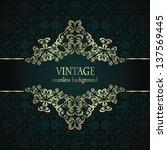vintage seamless background...   Shutterstock .eps vector #137569445